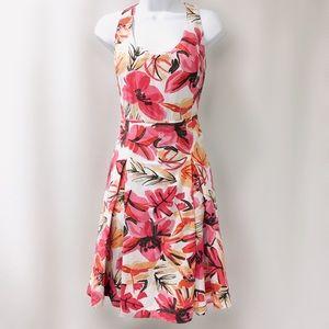 aebf5884cb Sigrid Olsen Tropical Print Linen Blend Dress